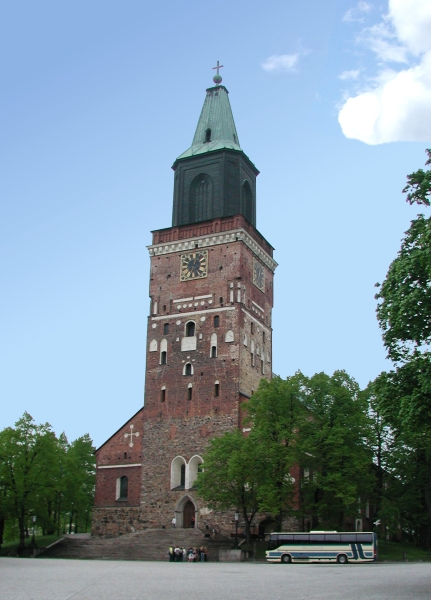 Cathedral of Turku was the center of Henry's cult. The Cathedral of Turku.jpg
