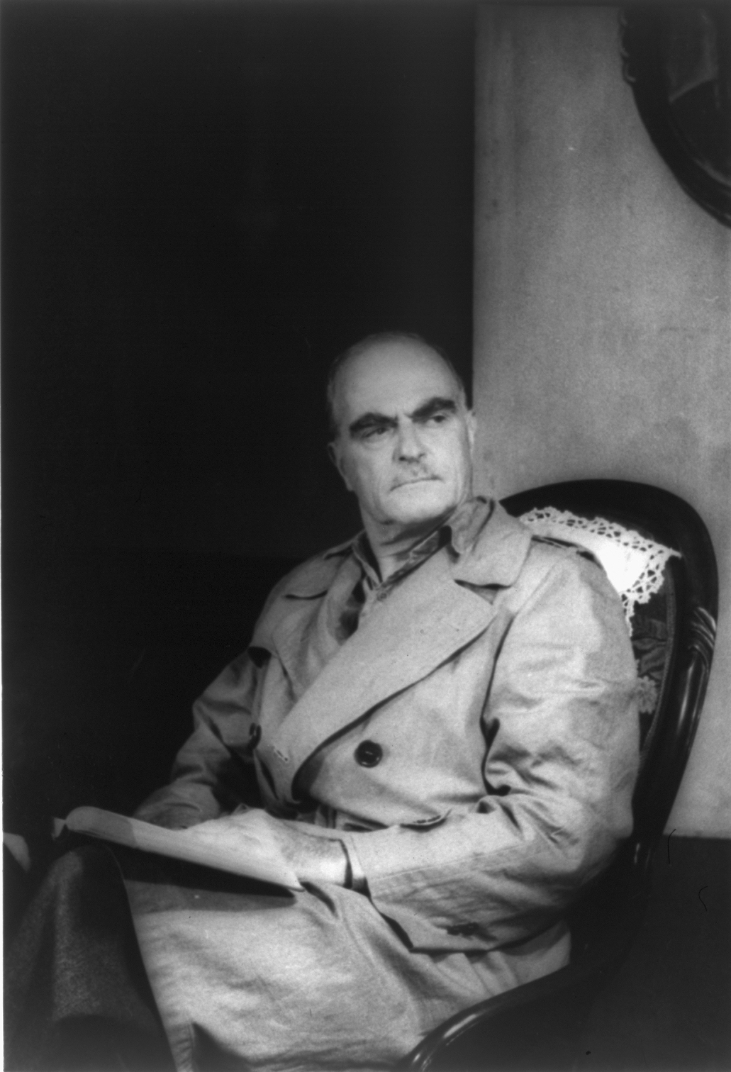 Thornton Wilder as Mr. Antrobus in ''The Skin of Our Teeth'', photogram by [[Carl Van Vechten]], August 18, 1948