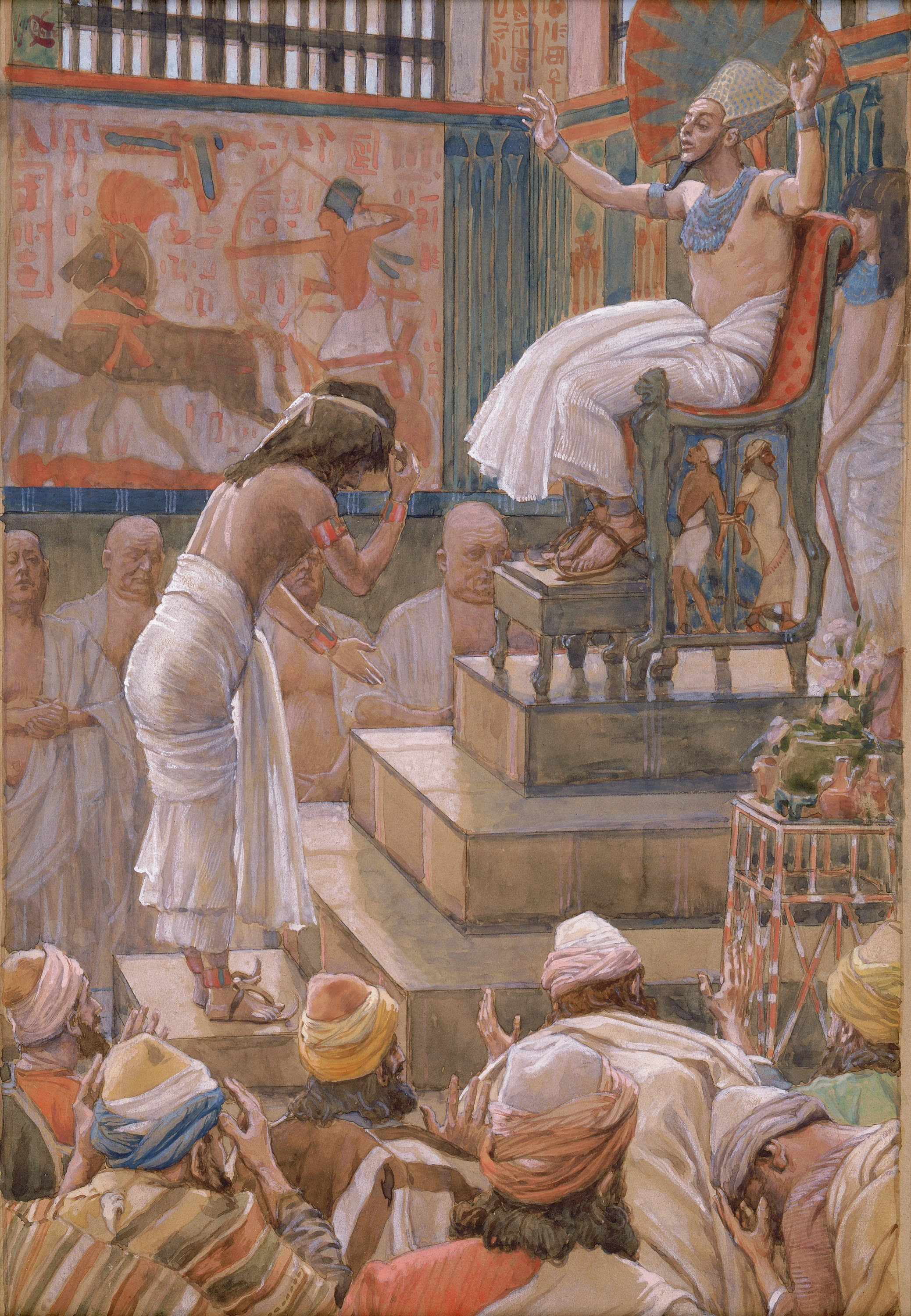 File:Tissot Joseph and His Brethren Welcomed by Pharaoh.jpg