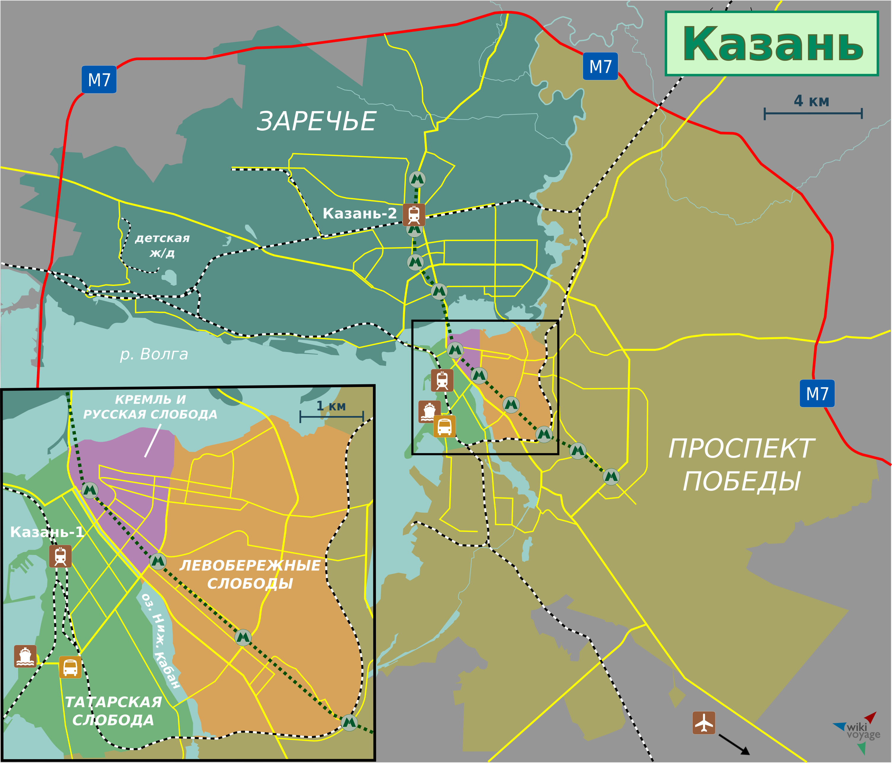 Kazan Location Map - Where is russia located