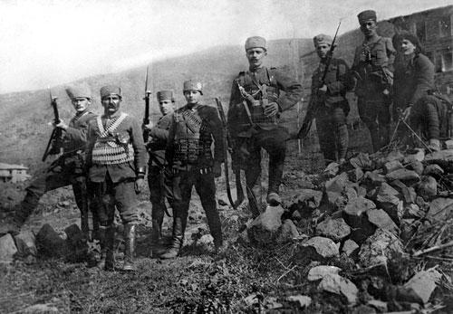 Turkish infantryman during the War of Independence