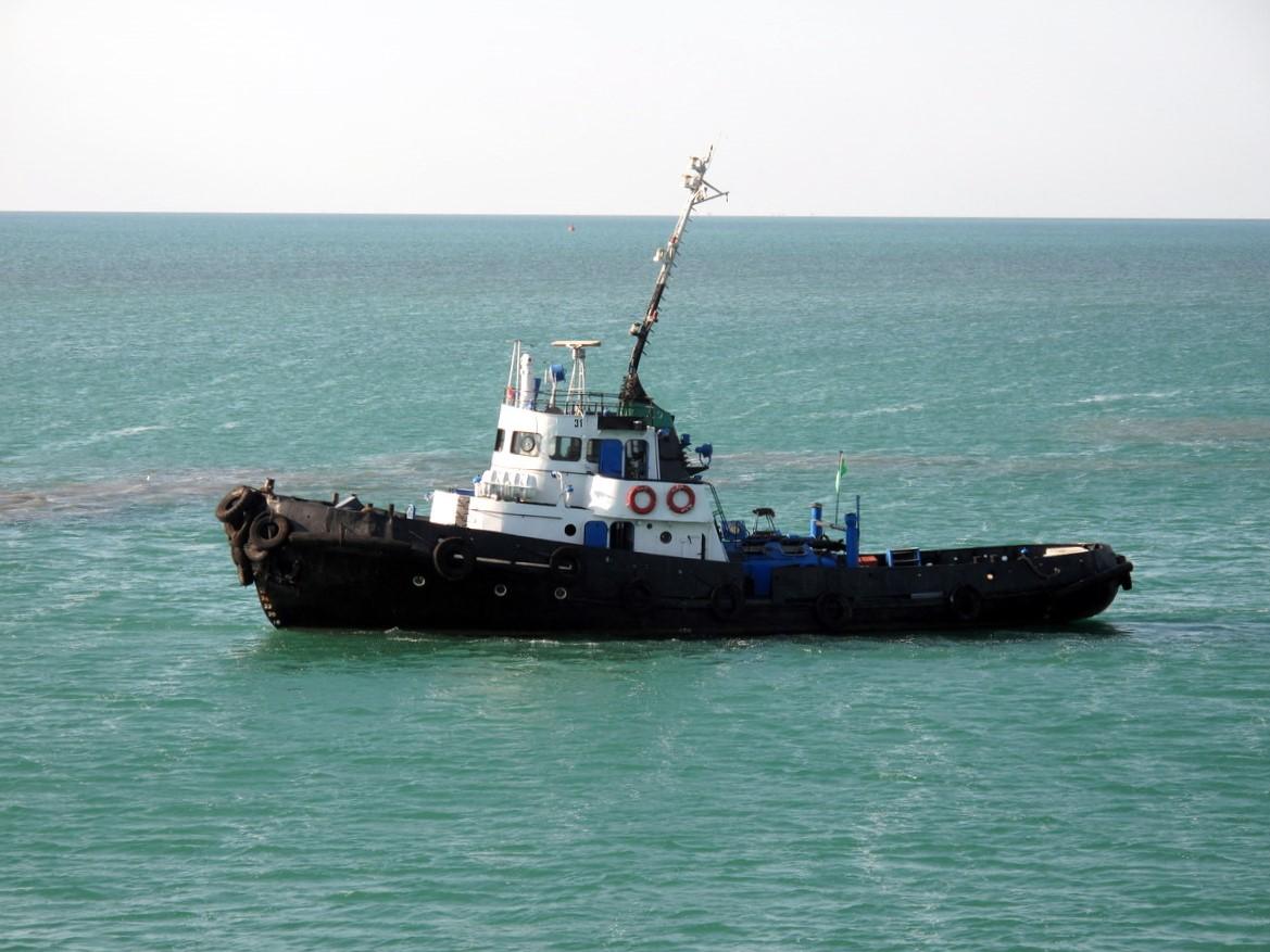 Turkmeni Coast Guard at Turkmenbashi Ferry Port (3891716183).jpg