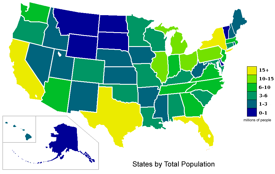 File Usa States Population Map 2007 Color Png