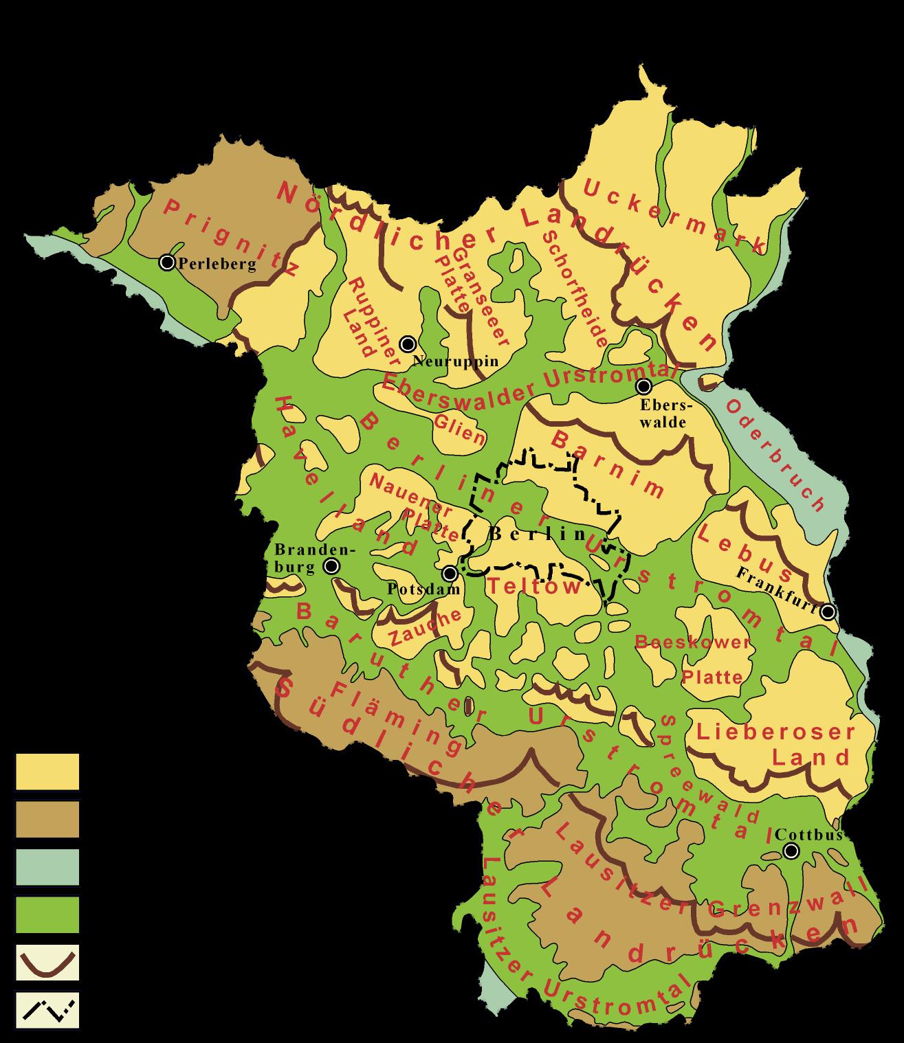 grundwasserspiegel karte brandenburg Landschaftsschutzgebiete Brandenburg Karte | Kleve Landkarte