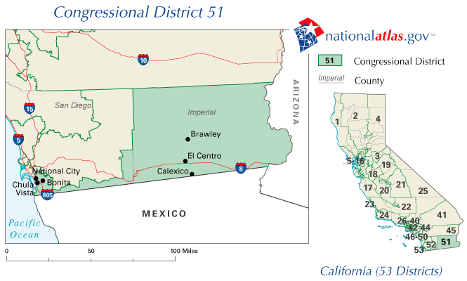 Californias St Congressional District Wikipedia - Us representative map california