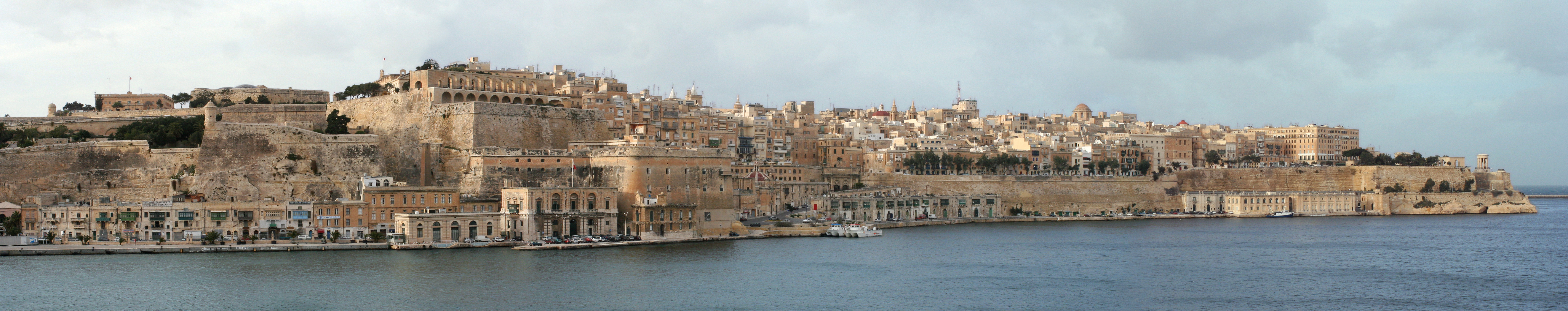 A panoramic view of Valletta, the capital of Malta, as seen from Senglea across the Grand Harbour. The city is named after Jean Parisot de la Valette, Grandmaster of the Knights Hospitaller who successfully defended the island from an Ottoman invasion in 1565. The City of Valletta was officially recognised as a World Heritage Site by UNESCO in 1980.