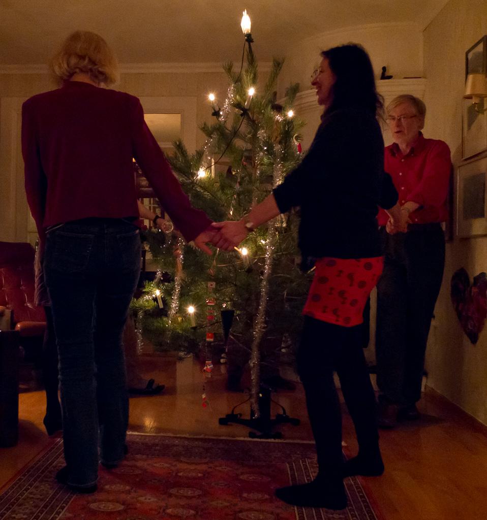 Walking Around A Christmas Tree