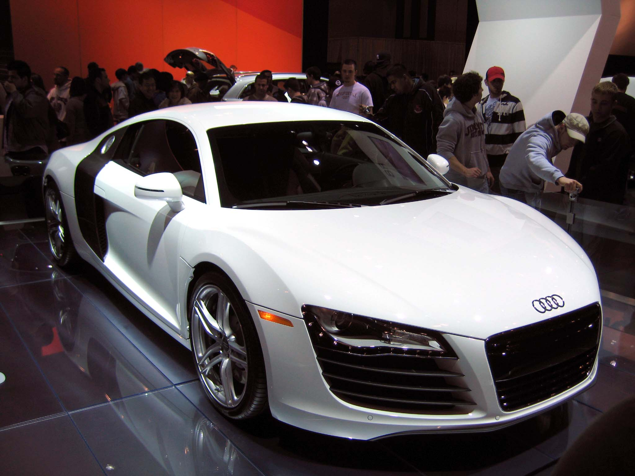 File White Audi R8 Jpg Wikimedia Commons