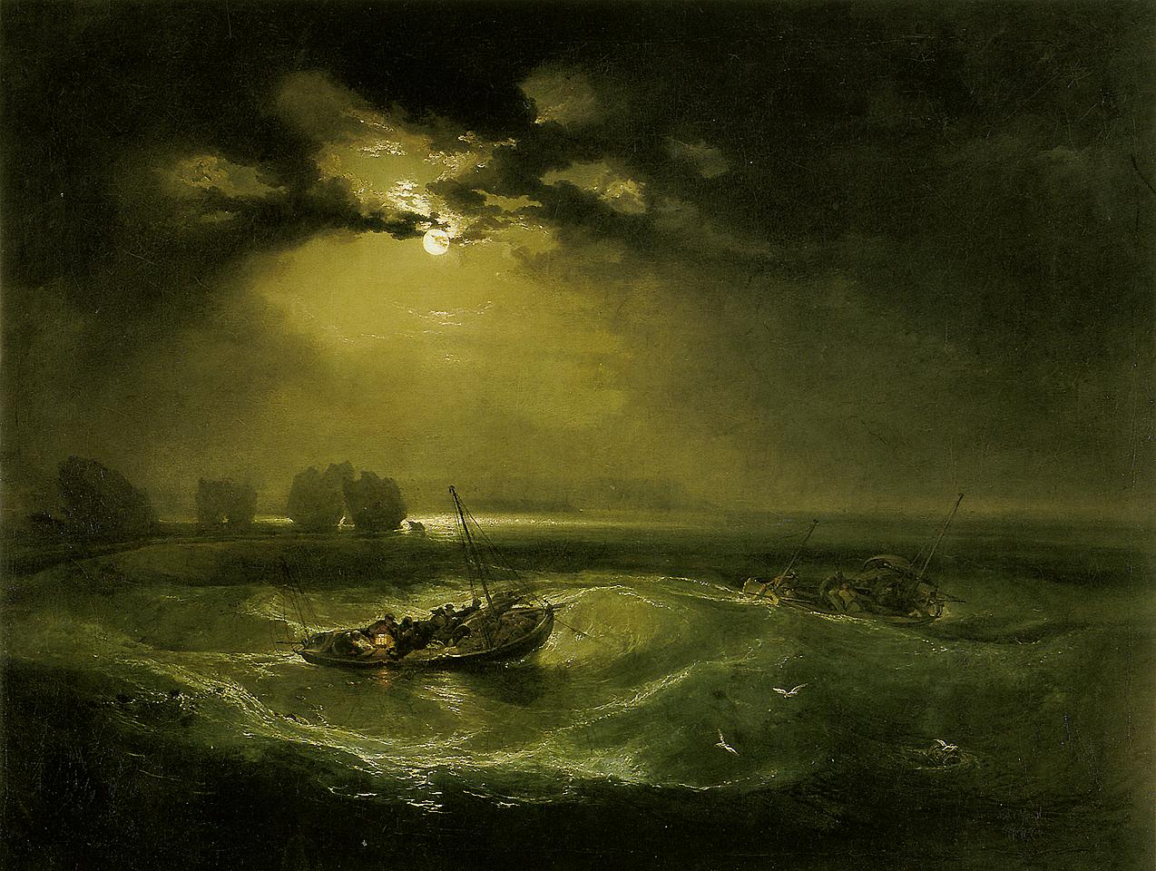 ماهیگیران در دریا _ ویلیام ترنر _ رمانتیسیسم _ آموزشگاه نقاشی شرق تهران