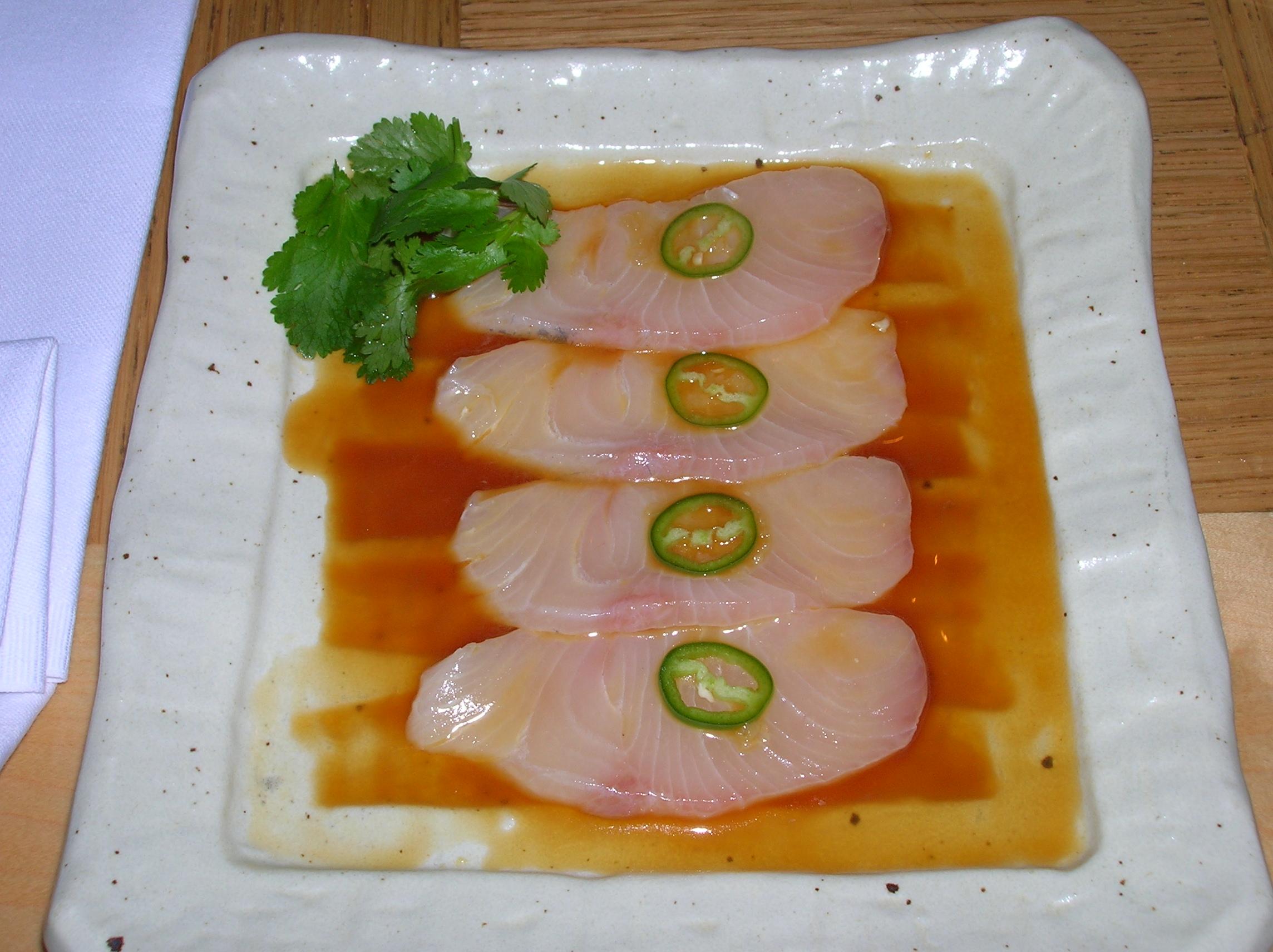 File:Yellowtail sashimi with Jalapeno.JPG - Wikimedia Commons