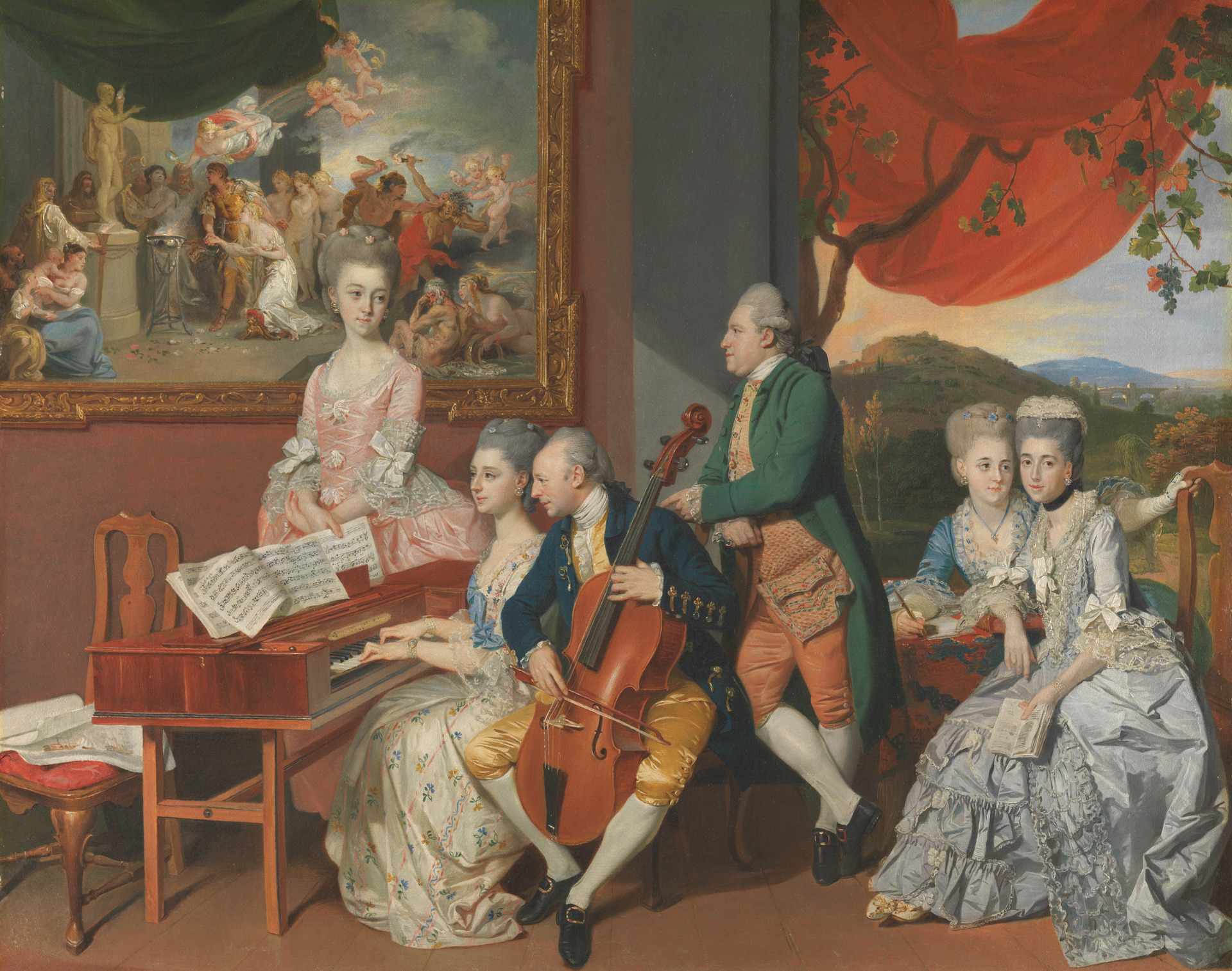 "Image of the painting ""The Gore Family with George, third Earl Cowper"" by Johan Joseph Zoffany RA"