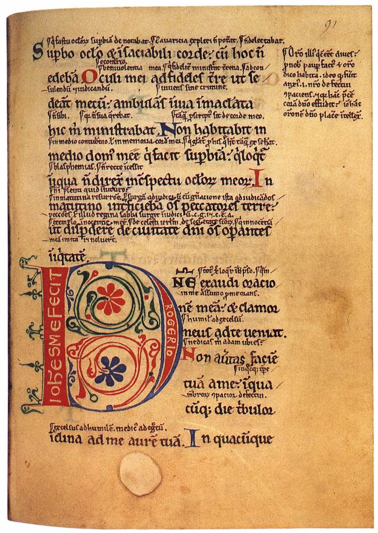 Glossed Psalter Psalter With The Gloss