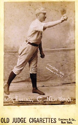 Buck Ewing in 1887, notice the lack of glove