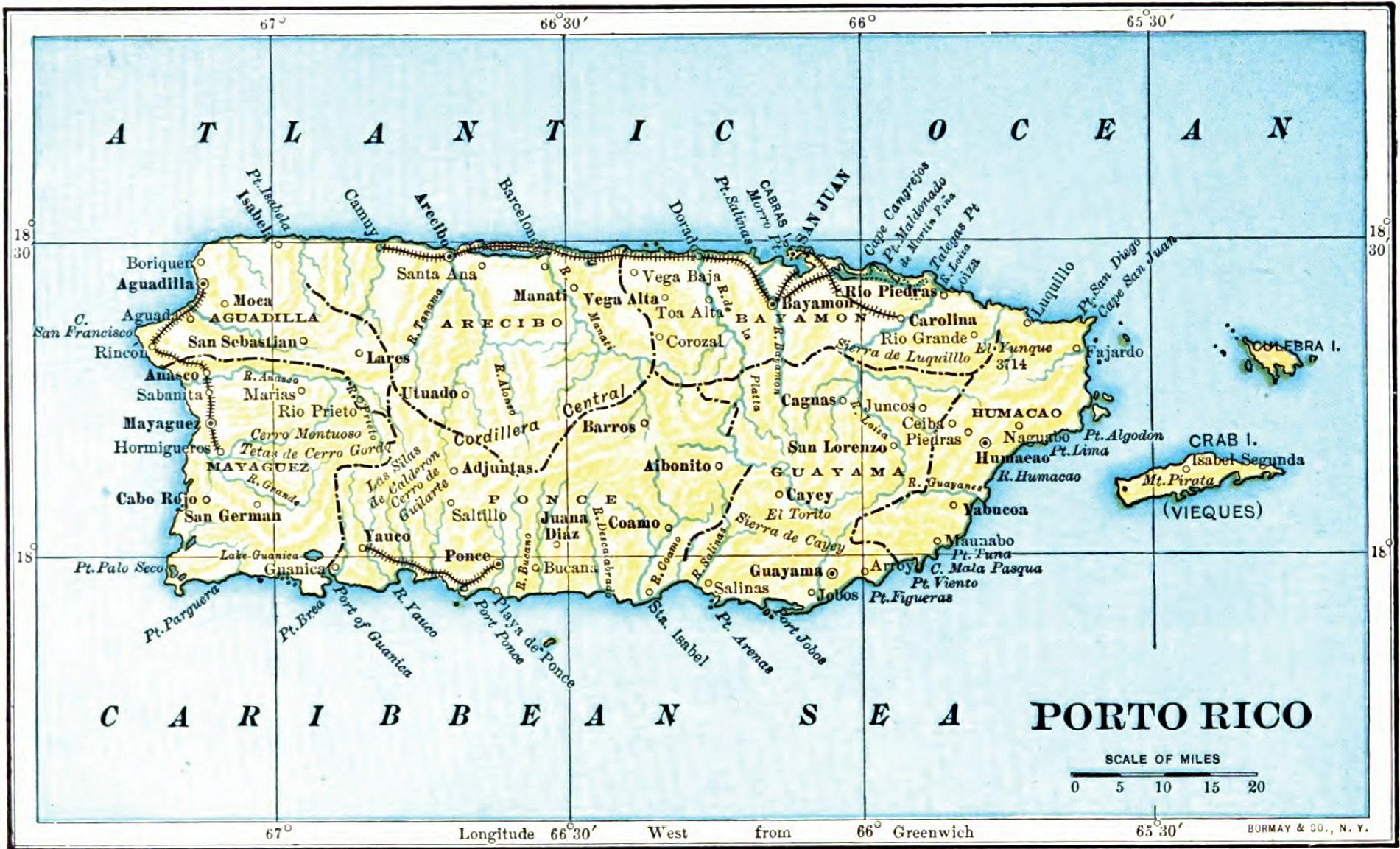 porto rico mapa File:1903 map of Porto Rico (Puerto Rico).   Wikimedia Commons porto rico mapa