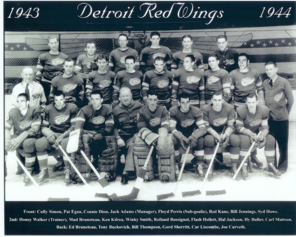 1943 44 detroit red wings season wikipedia