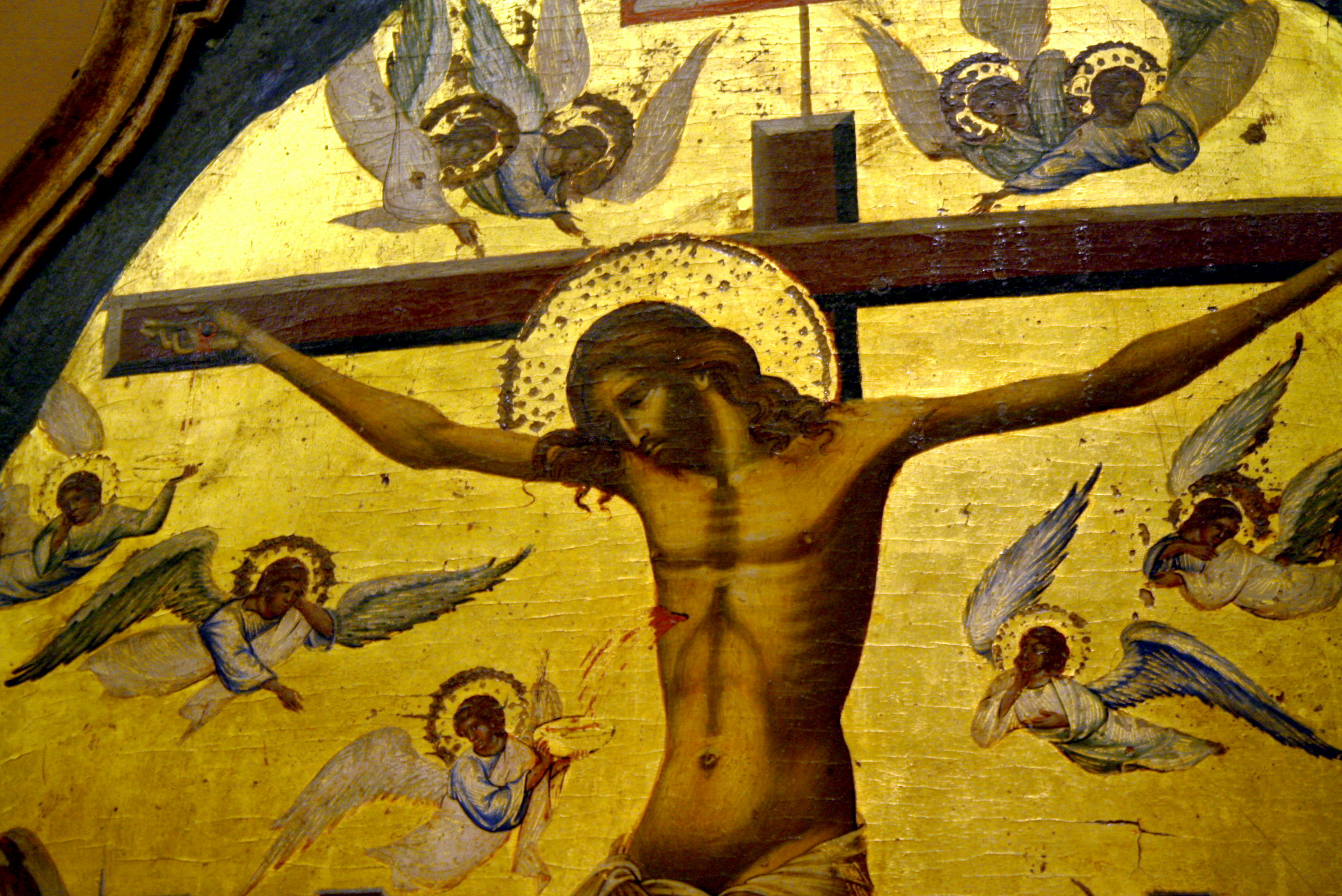 File:2117 - Byzantine Museum, Athens - School of Paolo Veneziano,  Crucifixion -