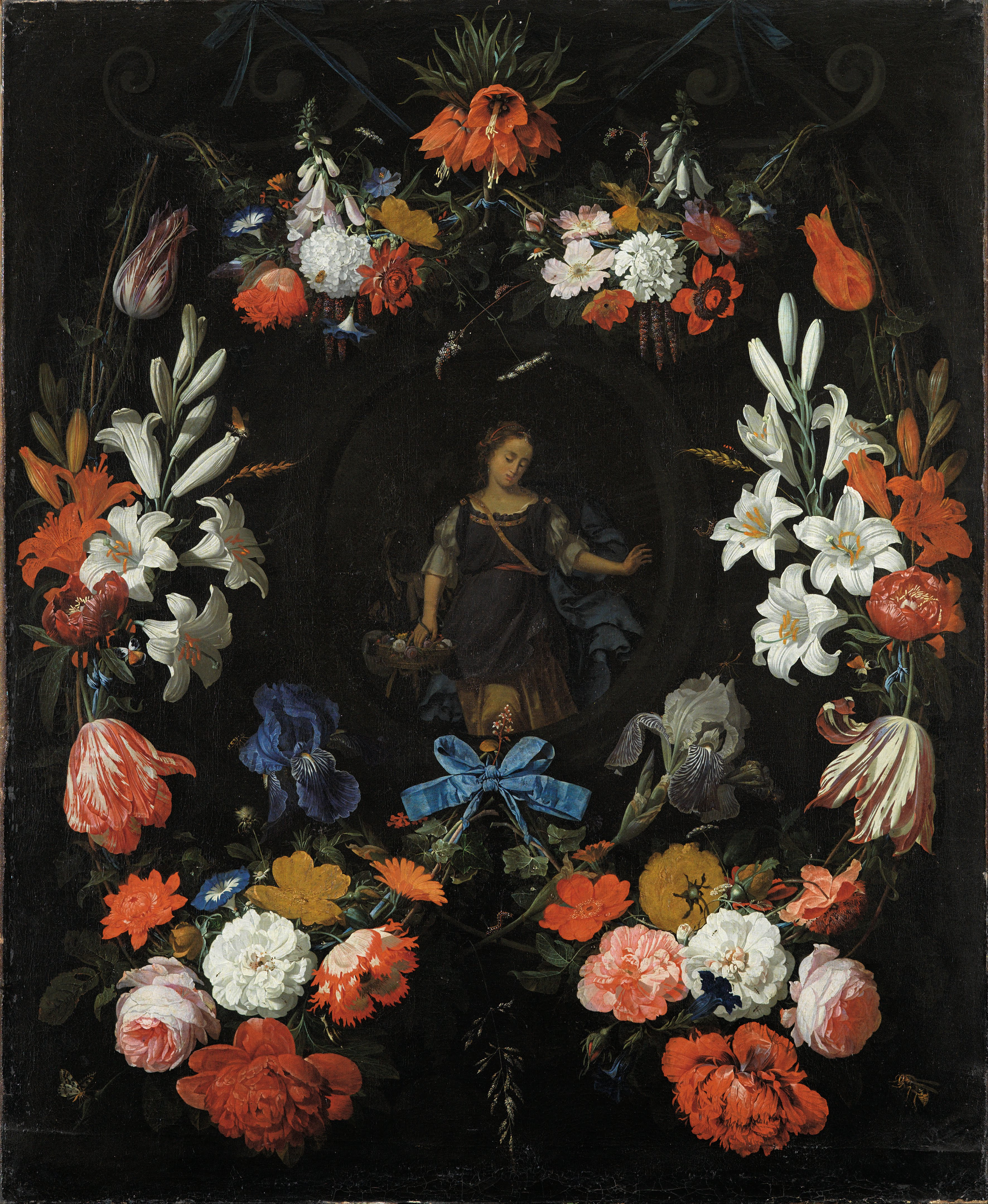 Fileabraham Mignon Garland Of Flowers Google Art