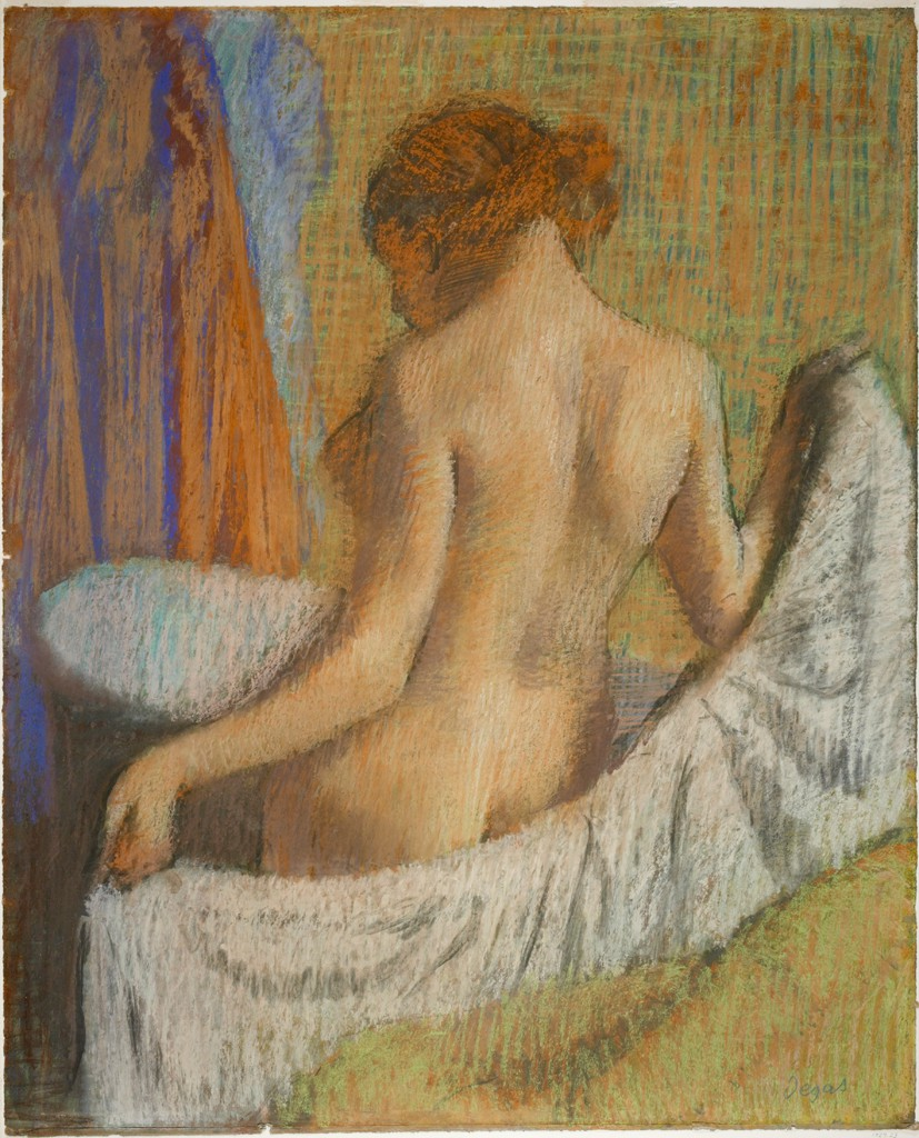 After the Bath Woman with a Towel by Edgar Degas