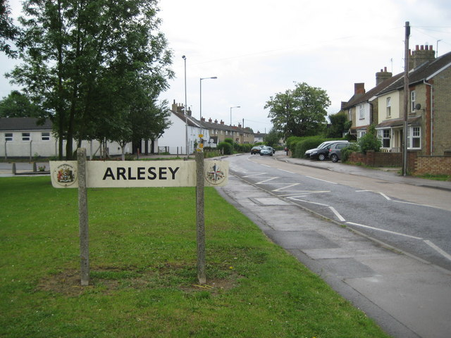 Arlesey, 1951 Festival of Britain town sign - geograph.org.uk - 1922136