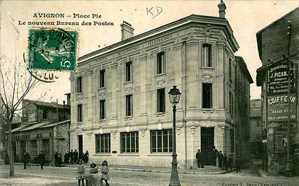 File Avignon Place Pie Bureau De Postes Jpg Wikimedia Commons