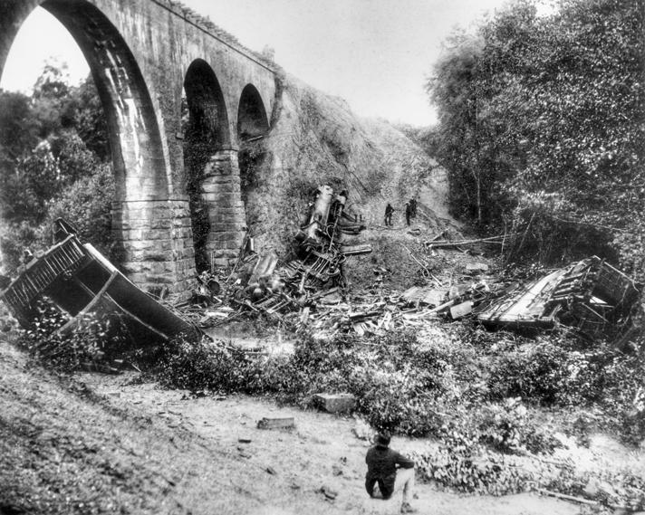 Eisenbahnunfall Auf Der Bostian