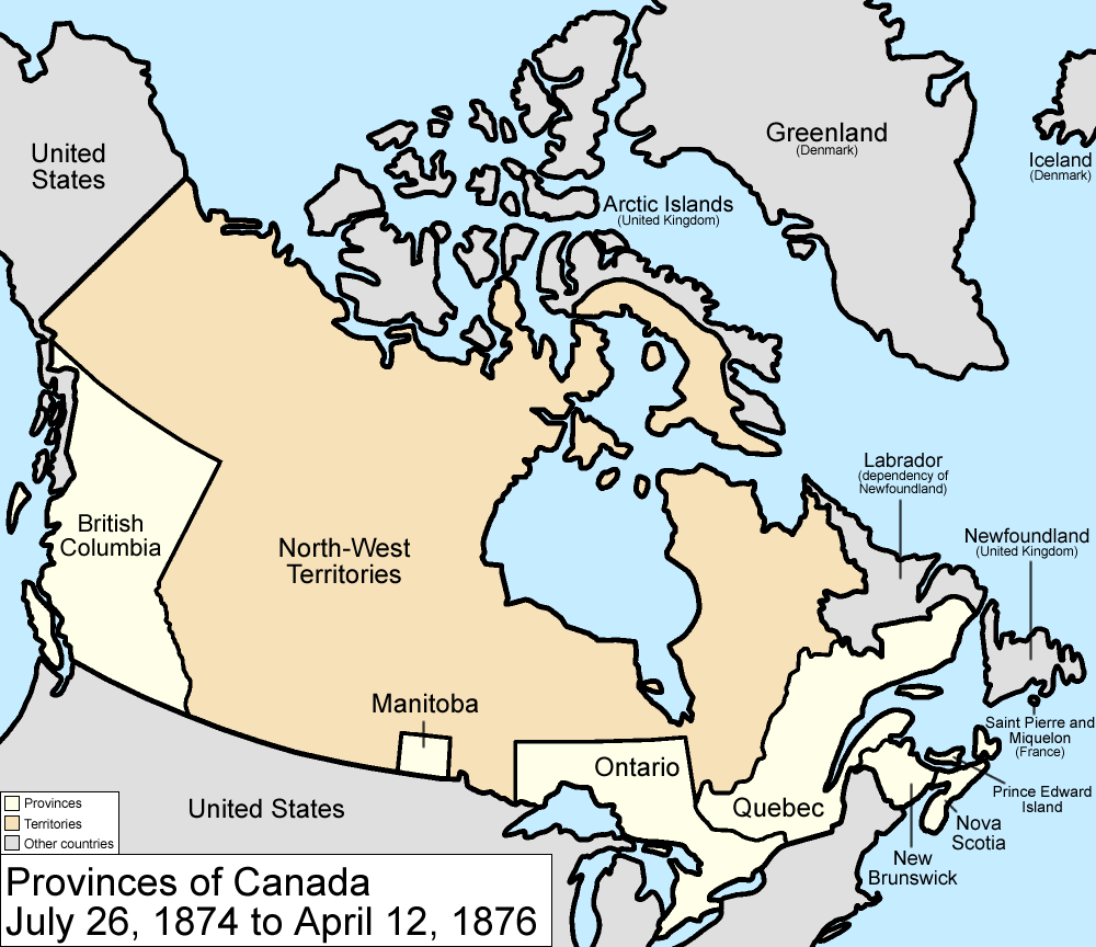 Map Canada And Usa Map of The Country of Canada