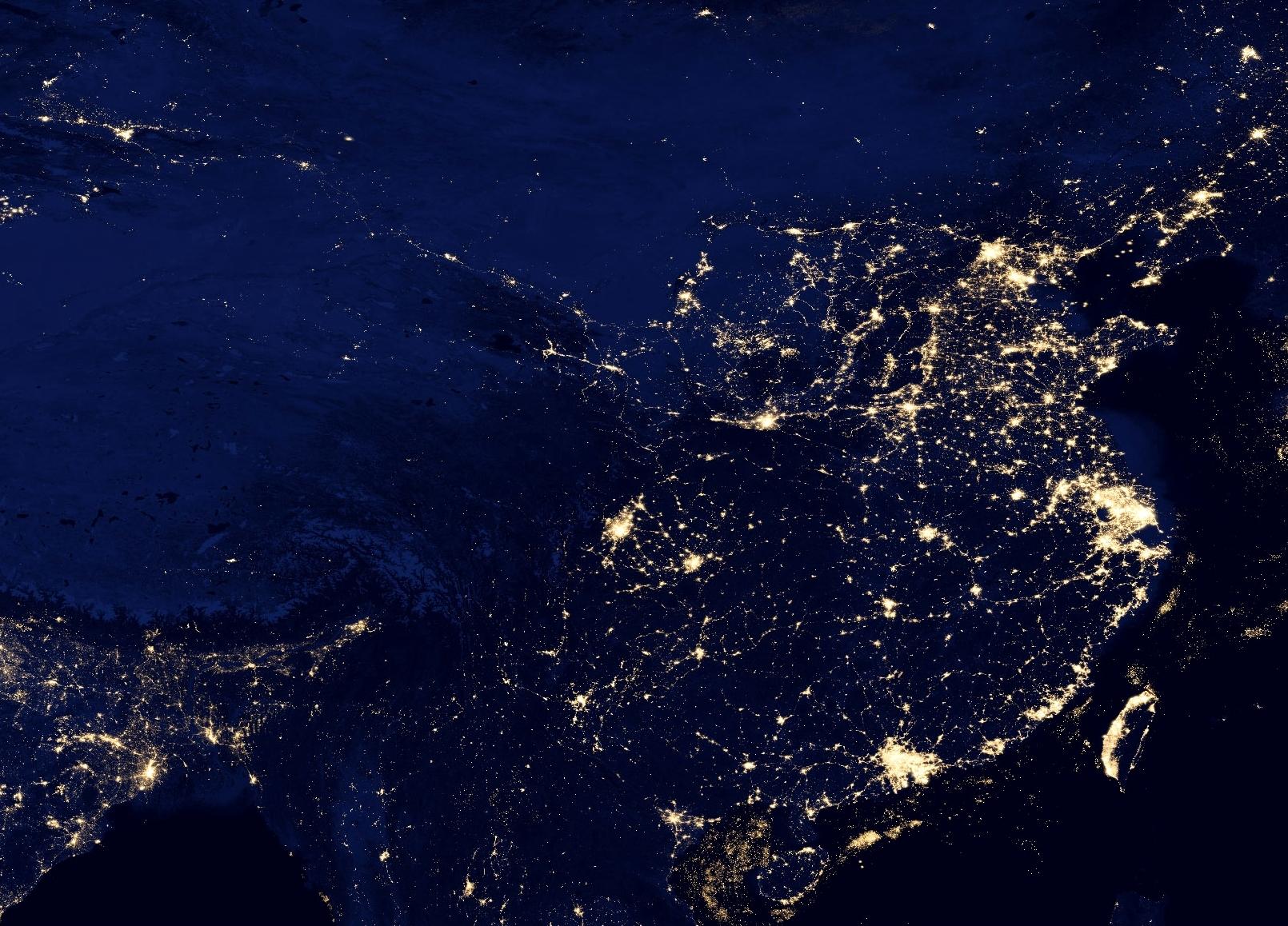 File China At Night By Viirs Jpg Wikimedia Commons