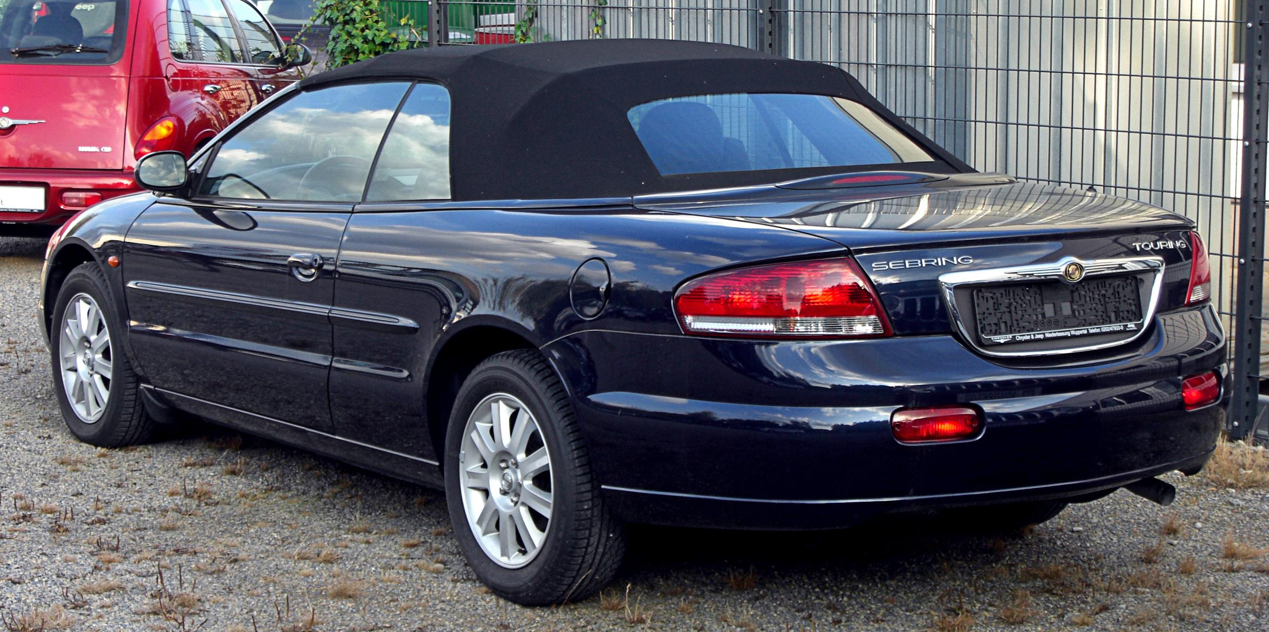 file chrysler sebring touring cabriolet facelift rear jpg wikimedia commons. Black Bedroom Furniture Sets. Home Design Ideas