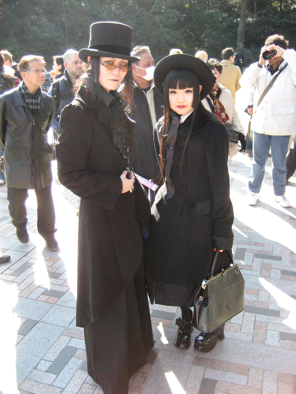 Elegant gothic aristocrat fashion