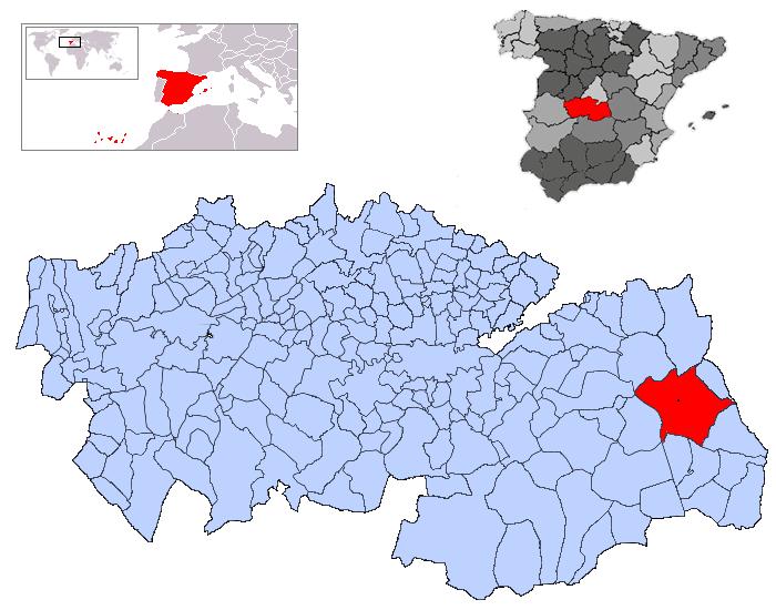 Resultado de imagen de corral de almaguer mapa