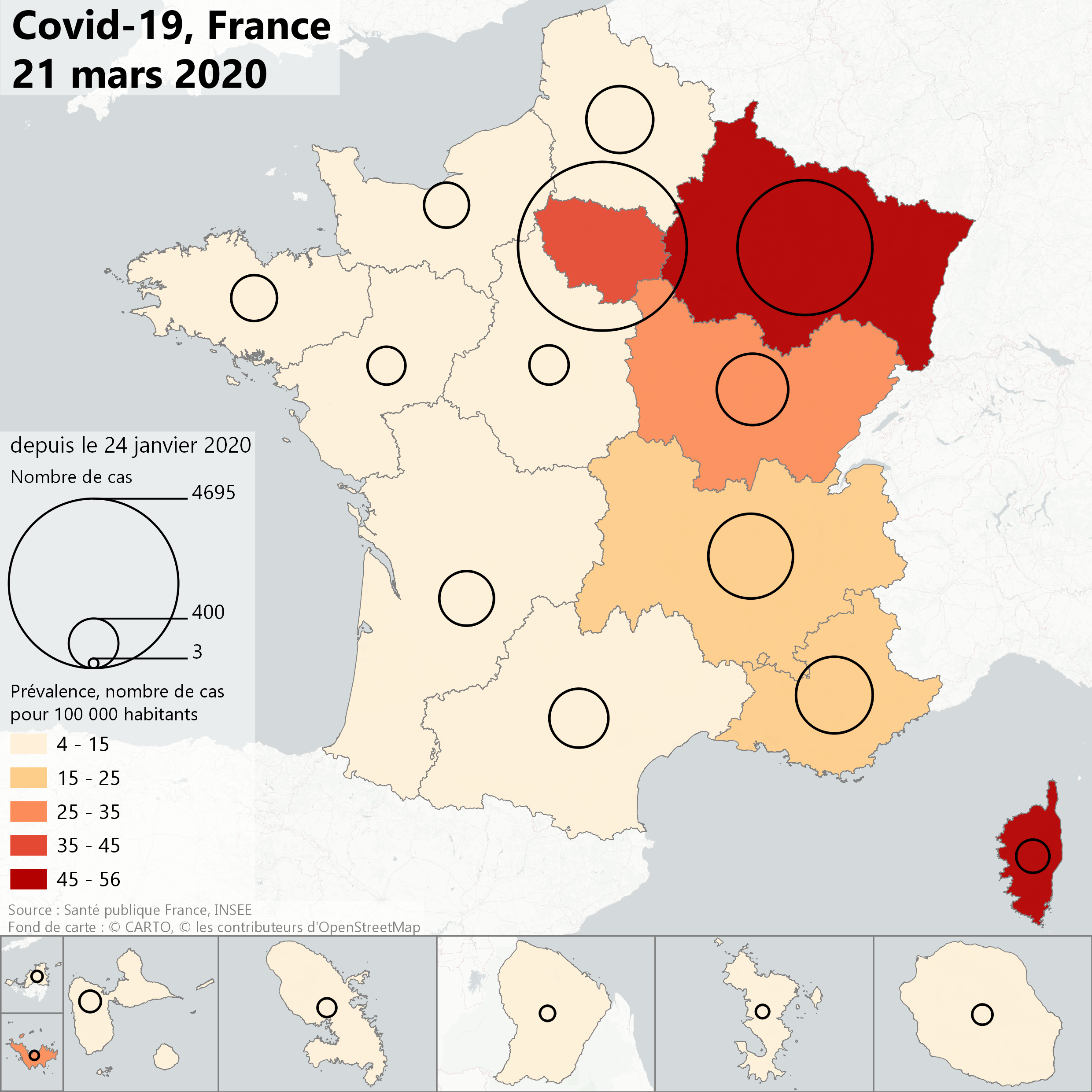 carte france region 2020 File:Covid 19, France, 21 mars 2020.png   Wikimedia Commons