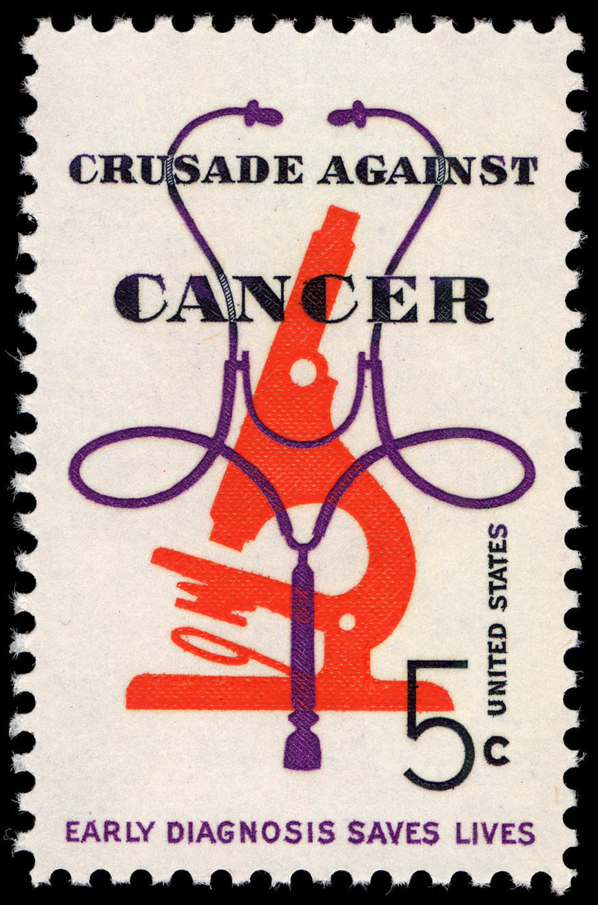 FileCrusade Against Cancer 5c 1965 Issue US Stamp