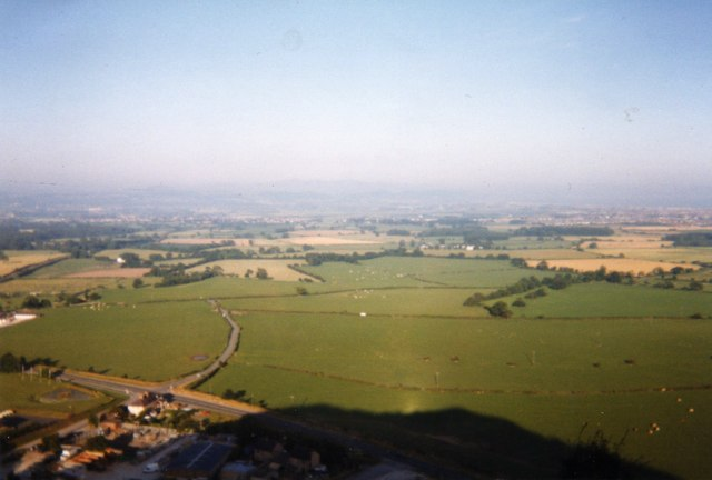 Dawn on Graig Fawr as it casts its shadow on the land - geograph.org.uk - 894041