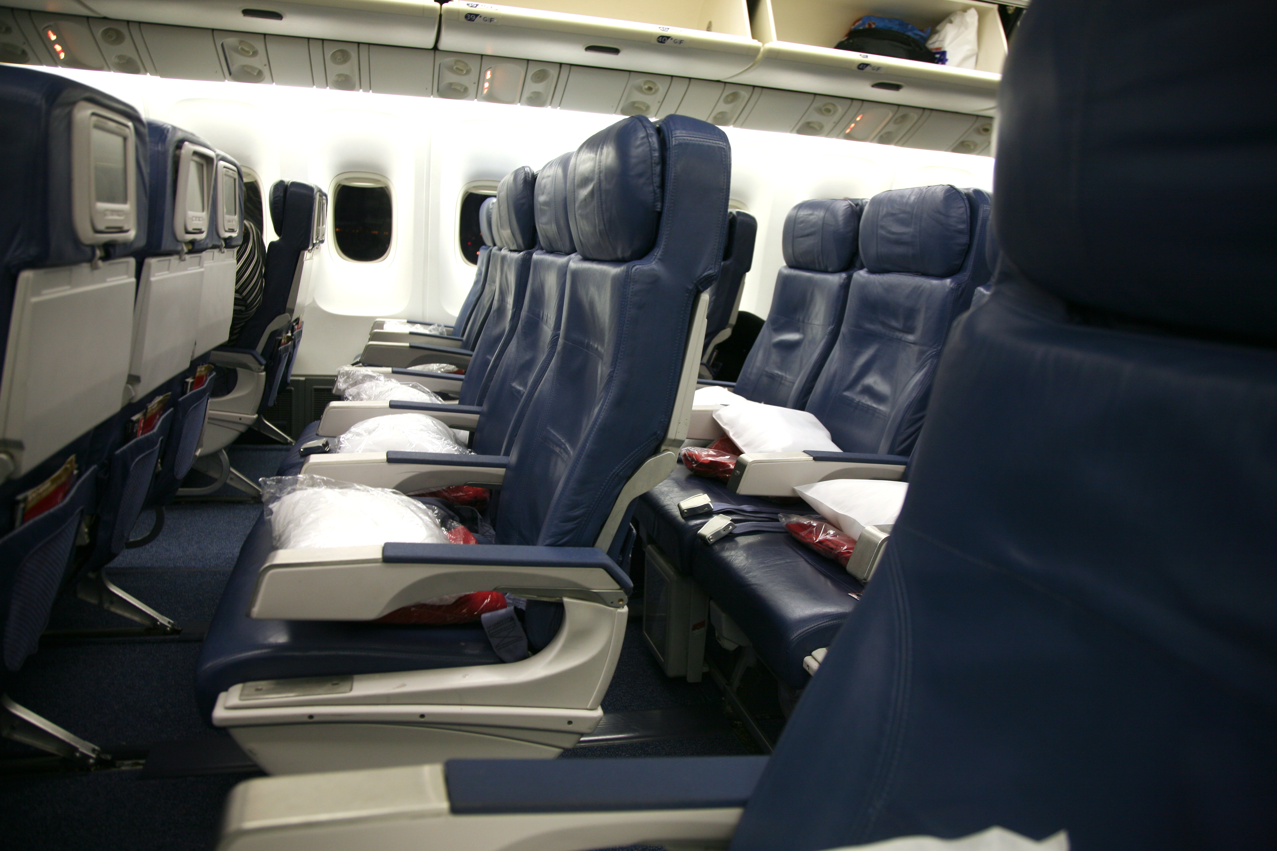 Main Cabin on a Boeing 767