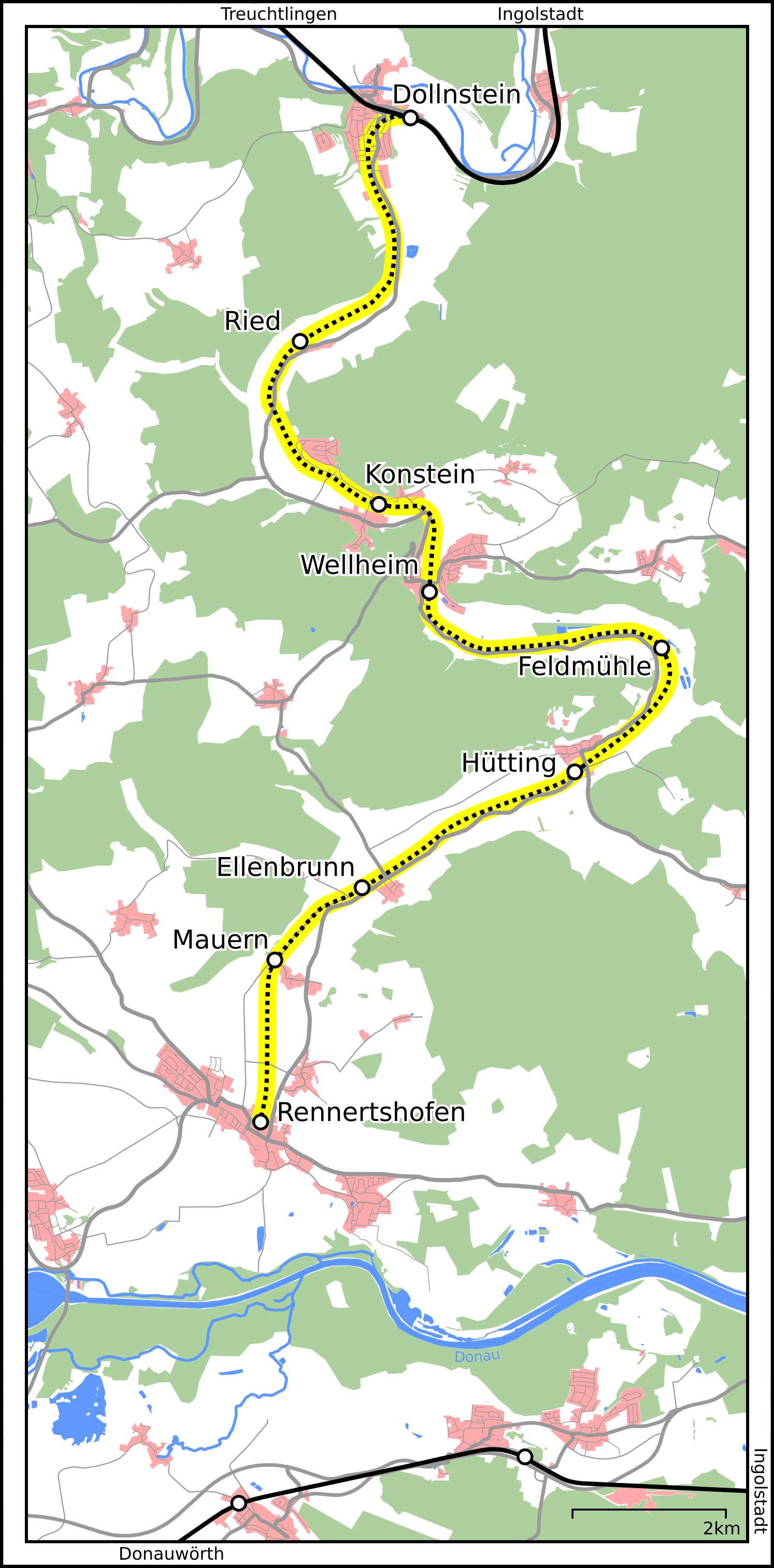 Bahnstrecke Dollnsteinrennertshofen Wikipedia