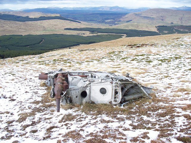 Engine From Fairey Firefly On Meikle Bin and Carron Valley Forest - geograph.org.uk - 1400920