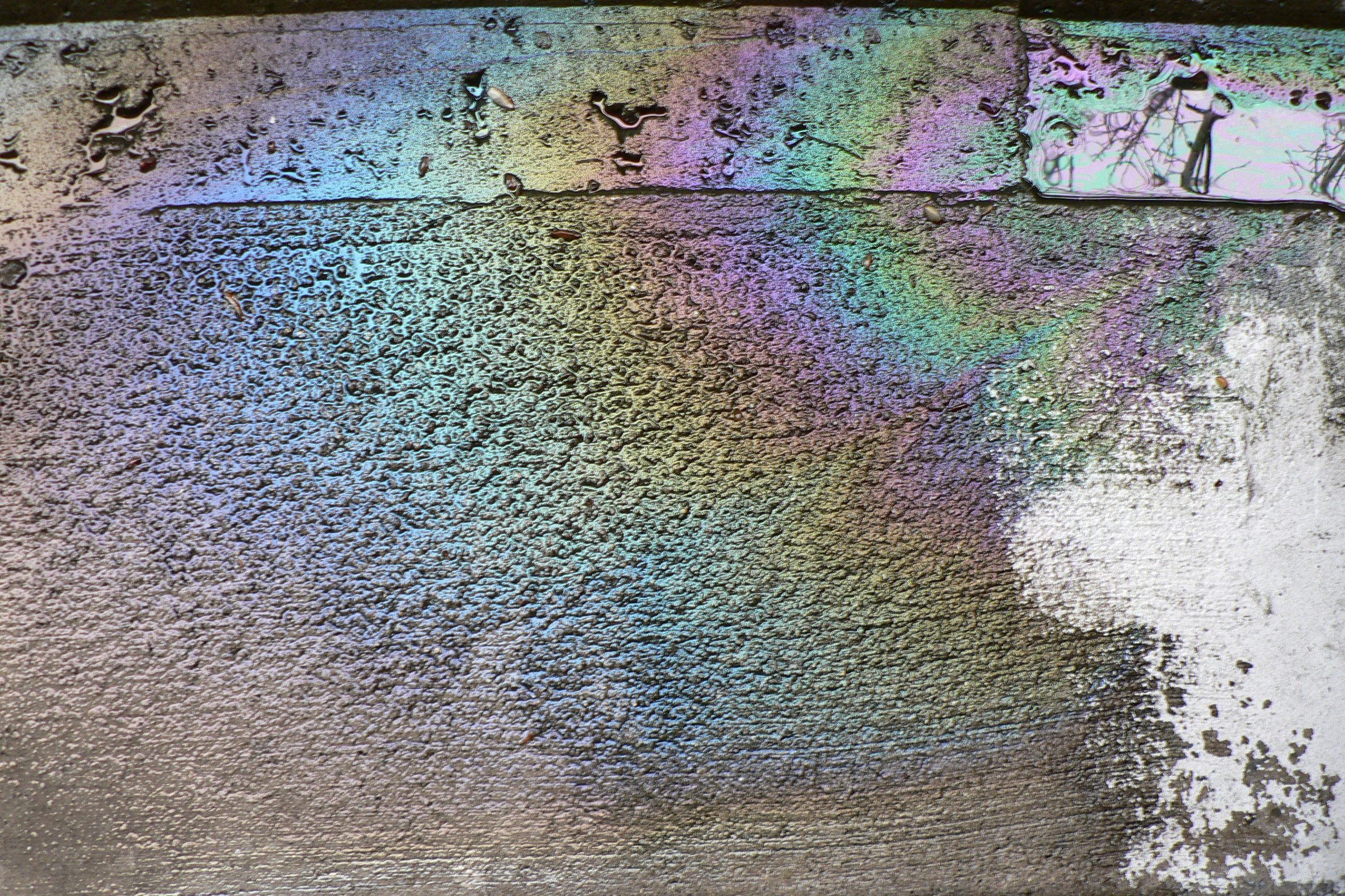how to make a rainbow oil spill