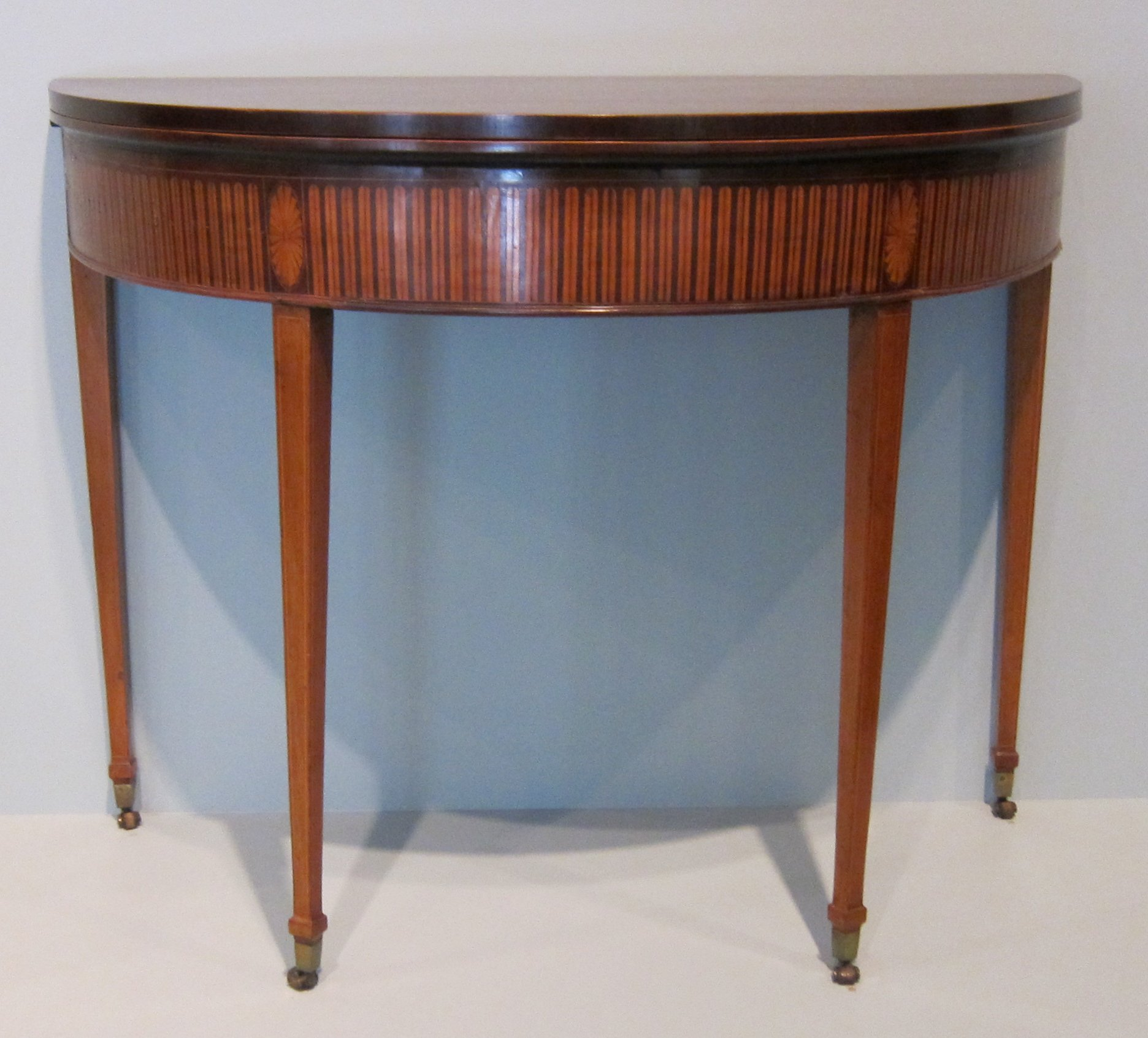 File:English Demilune Card Table, C. 1790 1805, Mahogany With Satinwood