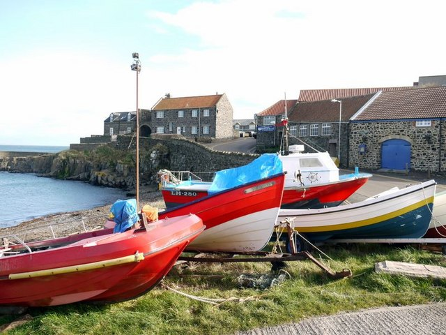 Fishing boats at Craster Harbour - geograph.org.uk - 1224465
