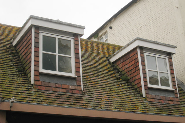 File:Flat Roof Dormer windows on George Street - geograph.org.uk -