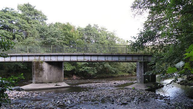Footbridge over Tawe in Glantawe Riverside Park - geograph.org.uk - 1481042