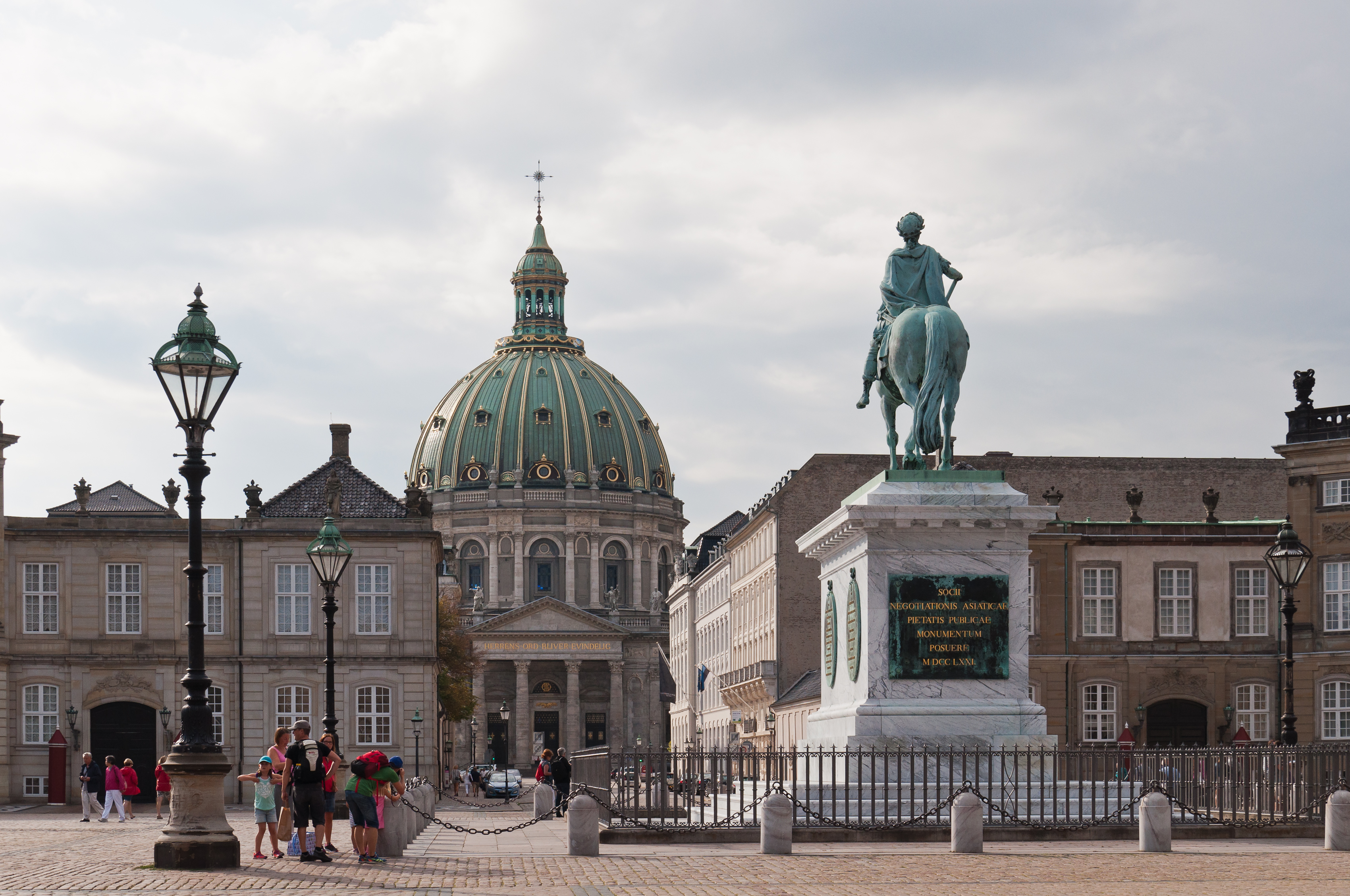 ... in Amalienborg Palace and Frederik's Church Copenhagen 2014 01.jpg