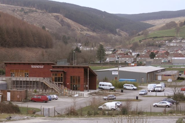 Glyncorrwg ponds and mountain bike centre - geograph.org.uk - 362034