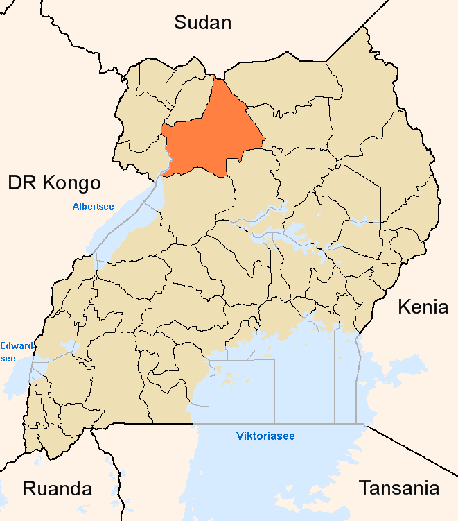 maps of uganda. File:Gulu District Uganda.png