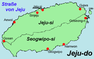 Map Of Jeju Island Attractions
