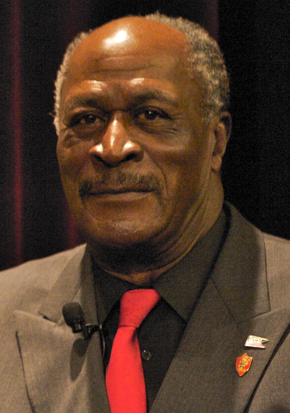 "Amos at ""Their Voices, Their Stories African-American Veterans Who Served on Iwo Jima"", March 2011."