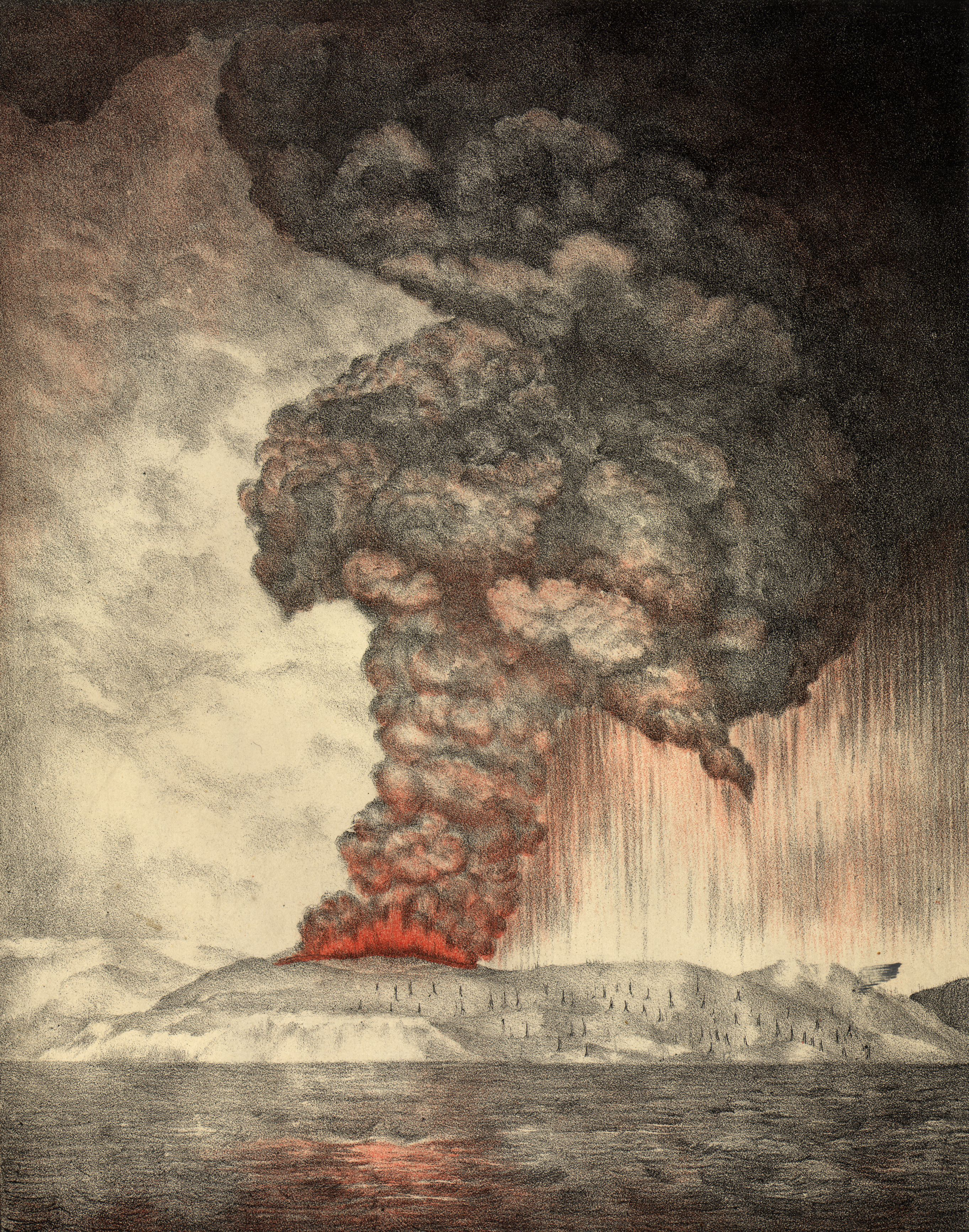 Resultado de imagem para krakatoa volcano 1883