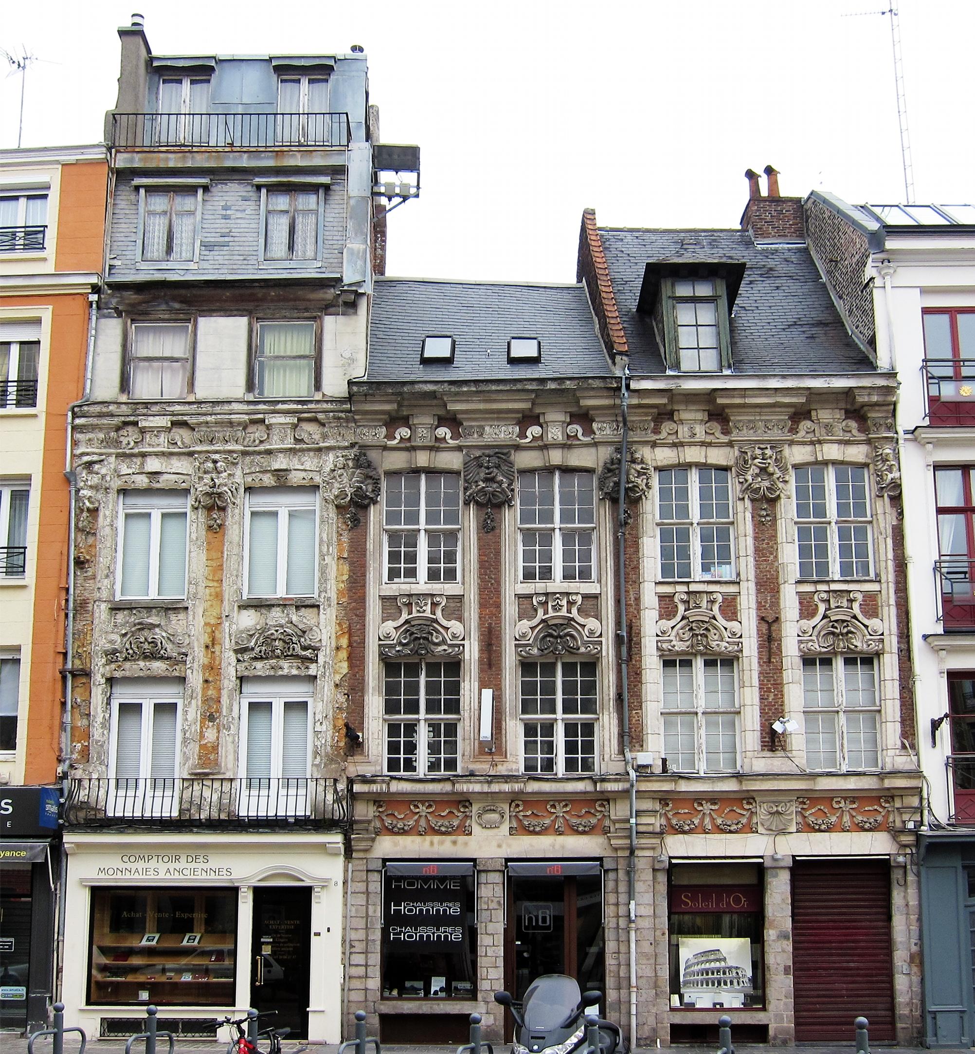 File lille 4 6 8 rue esquermoise jpg wikimedia commons - Magasin meuble lille rue esquermoise ...