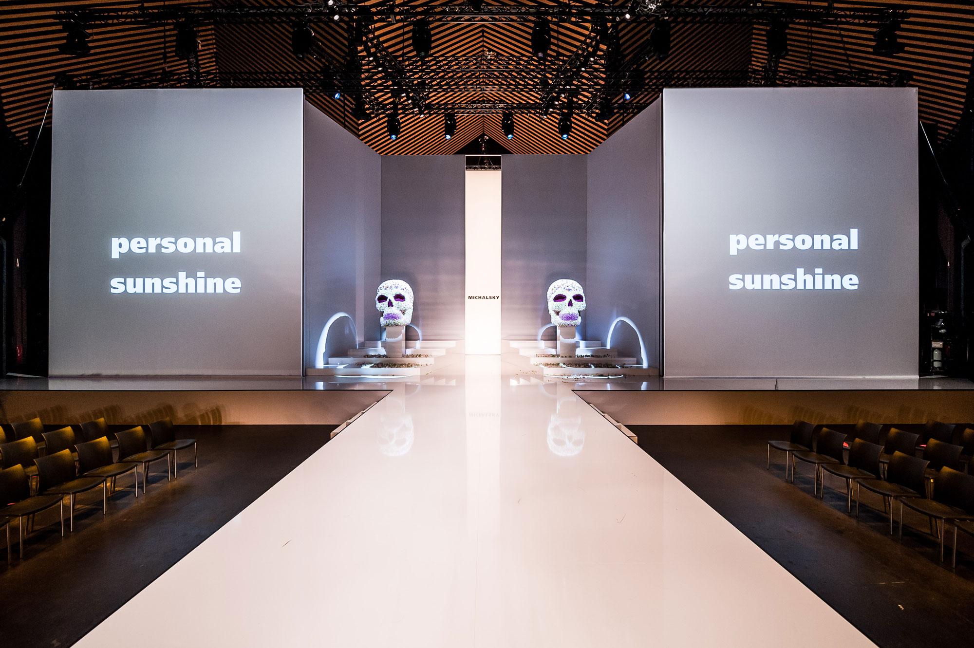 Laufsteg für Michalskys StyleNite auf der Berlin Fashion Week