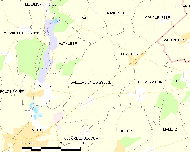 Ovillers-la-Boisselle in World War I